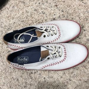 Keds baseball themed woman's shoes